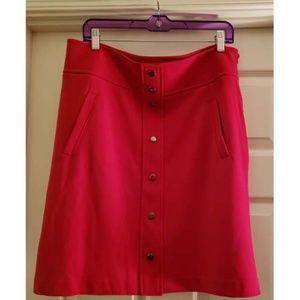 Dana Buchman Mod Red Skirt w/Pockets Size 14 NWT